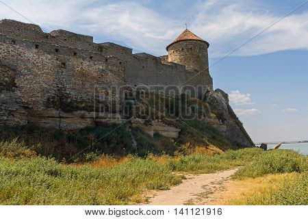 Tower of an ancient fortress. Belgorod-Dniester Ukraine