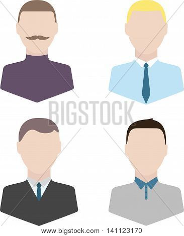 Icons for business and IT persons for using in presentations and business processes