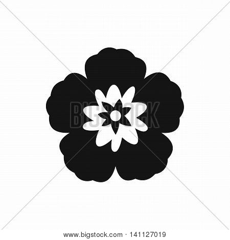 Rose of Sharon, korean national flower icon in simple style isolated on white background
