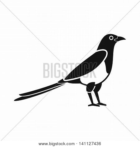 Bird magpie icon in simple style isolated on white background