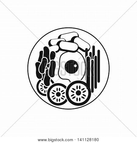 Dish of korean food icon in simple style isolated on white background