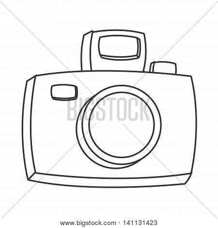 flat design cartoon photographic camera icon vector illustration