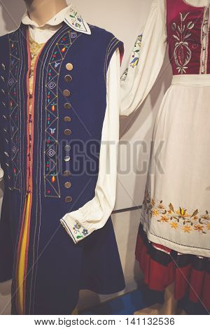 Traditional nice Polish Costume . Europe  .