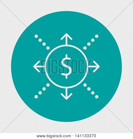 Project Management Icons On Cash Flow, Business And Success. Simple Isolated Thin Line Web Icon. Can