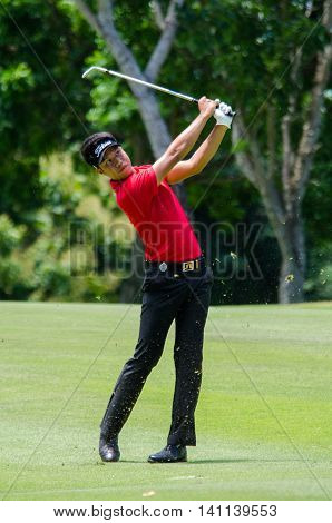 CHONBURI - JULY 31 : Danthai Boonma of Thailand in King's Cup 2016 at Phoenix Gold Golf & Country Club Pattaya on July 31 2016 in Chonburi Thailand.