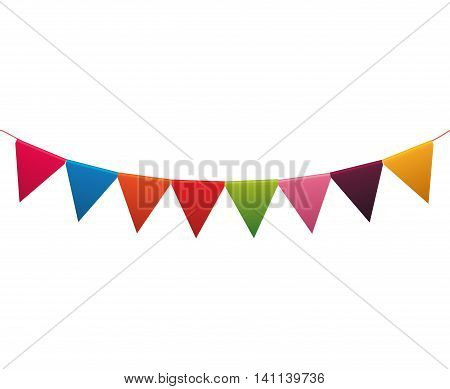 Pennant party celebration birthday icon. Isolated and flat illustration. Vector graphic