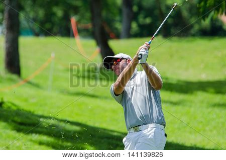 CHONBURI - JULY 31 : Pelle Edberg of Sweden in King's Cup 2016 at Phoenix Gold Golf & Country Club Pattaya on July 31 2016 in Chonburi Thailand.