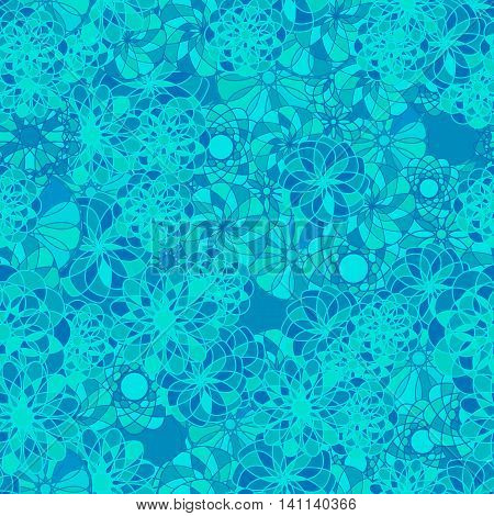 Seamless abstract pattern with abstract colorful circles. Vector background