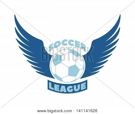 Template logo for European football sport team with sport sign and symbols. Tournament competition graphic champion sport team logo badge icon. Vector club game soccer sport team logo badge.