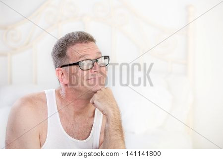 Retro Man In Tee Shirt