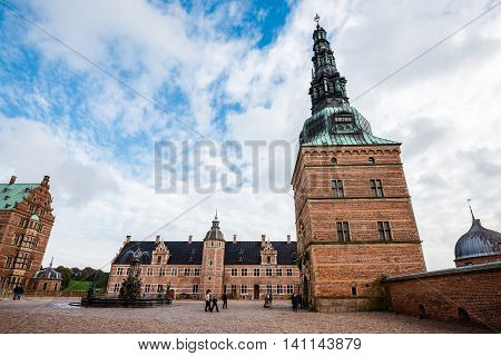 Frederiksborg Castle And Neptune Fountain