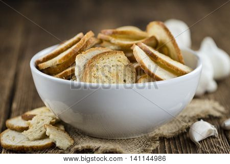Some Fresh Baked Bread Chips
