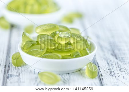 Gummy Candy With Lime Taste (selective Focus)