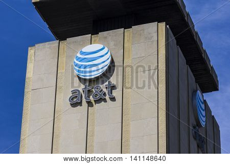 Muncie IN - Circa July 2016: Downtown AT&T Central Office. AT&T Inc. is an American Telecommunications Corporation XII