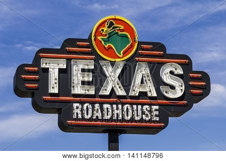 Muncie IN - Circa July 2016: Texas Roadhouse Restaurant Location. Texas Roadhouse is a Legendary Steak Restaurant III