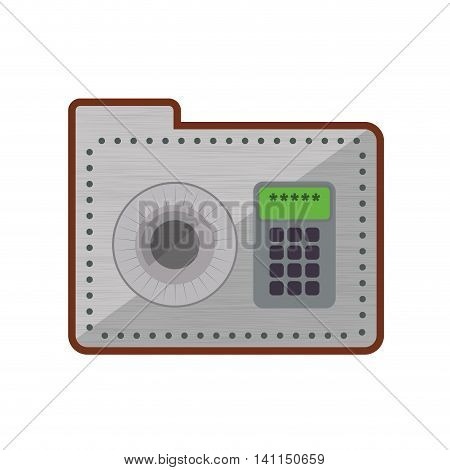 Strongbox security system protection icon. Isolated and flat illustration. Vector graphic
