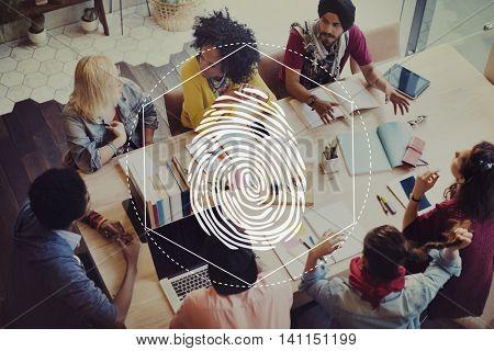 Fingerprint Security Distinction Access Graphic Concept