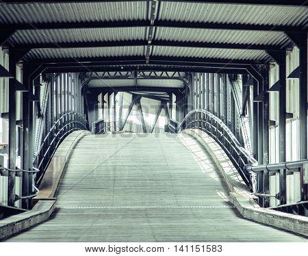 transport bridge in europe Hamburg, Germany noone, empty