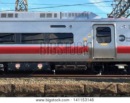The Metro-North Railroad train in Stamford, Connecticut