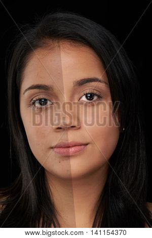 Woman Face Before And After Photoshop