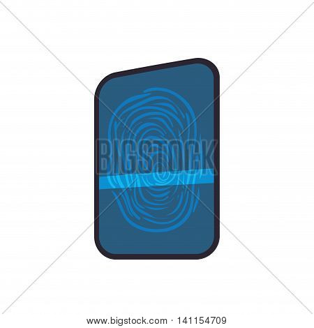 Fingerprint code security system protection icon. Isolated and flat illustration. Vector graphic