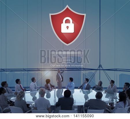 Security Protection Encryption Guard Privacy Concept