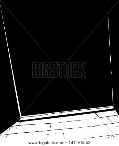 Shut Doorway Illustration