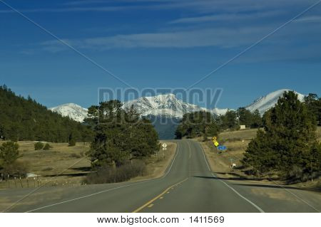 Mountain Road In Colorado