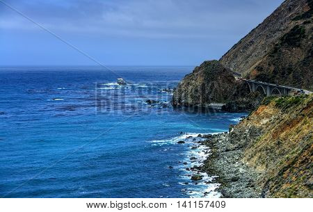 Bixby Creek Bridge highway 1 Big Sur California