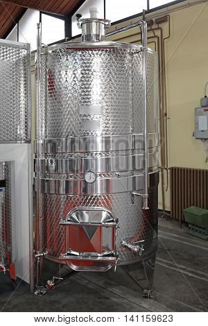 Stainless Steel Vinificator Fermenter Tank For Food Industry