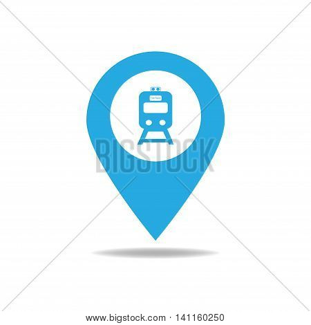 Map-poin-train-bluesky