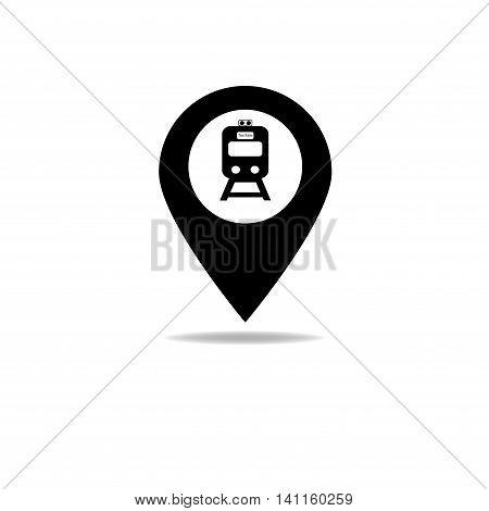 Map-poin-train-black