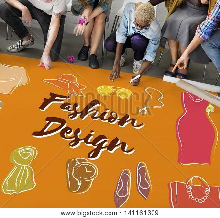 Fashion Apparel Garment Design Graphic Concept