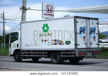 Refrigerated Container Pickup Truck Of Betagro Company.