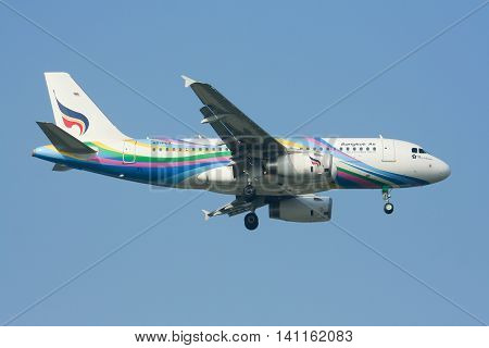 Hs-pgx Airbus A319-100 Of Bangkok Airway. Landing To Chiangmai