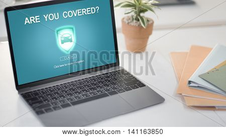Are You Covered Accident Insurance Property Concept