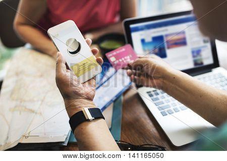Online Shopping Shopaholic Spending Internet Concept