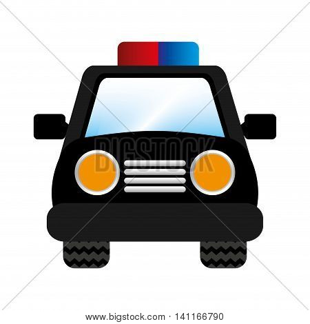 police car patrol icon vector illustration design