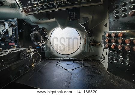 Old Airplane Cockpit.