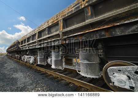 Freight Cars At The Railway