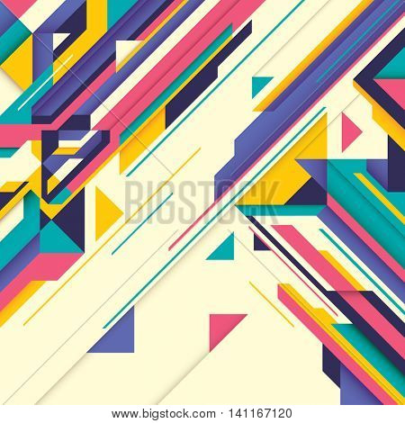 Futuristic style abstraction in color. Vector illustration.