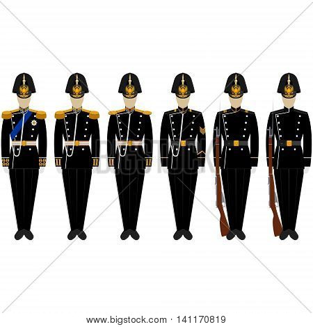 Fancy Dress Uniform Marine Corps. The illustration on a white background.