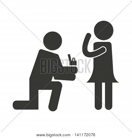 person asking for marriage vector illustration design