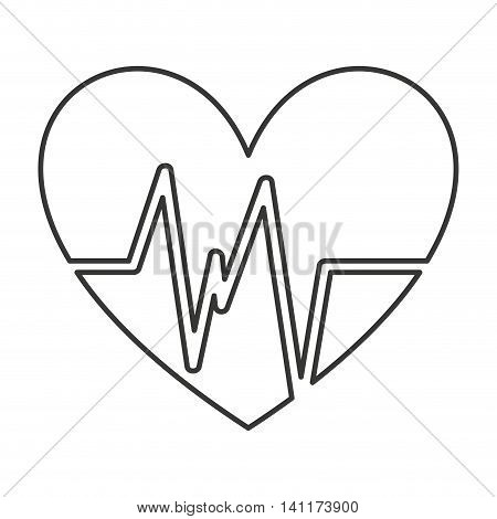 heart cardio isolated icon vector illustration graphic