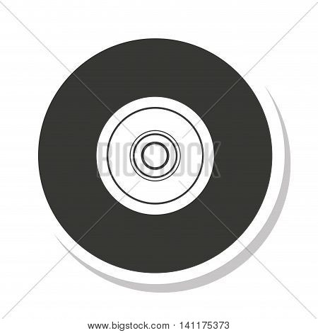 disk compact isolated icon vector illustration design