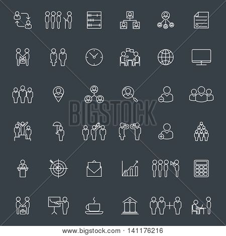 Business icons. Businesspeople, Businessteam communication vector signs