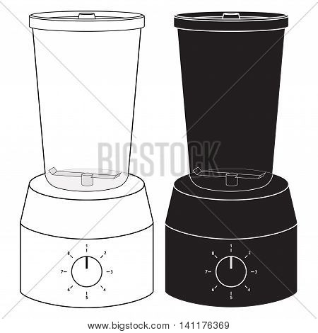Kitchen Blender icon. Vector illustration isolated on white background