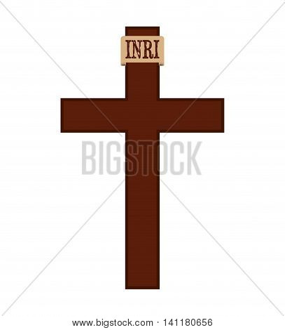 cross religion silhouette icon vector isolated graphic