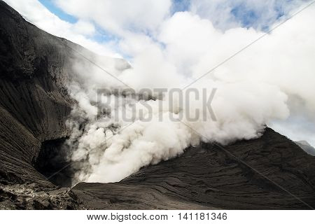 Mount Bromo is an active volcano and part of the Tengger massif in East Java Indonesia.
