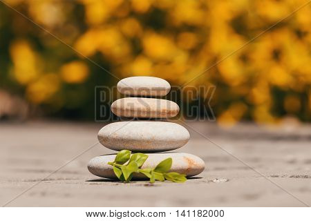 Balancing Pebble Zen Stones Outdoor